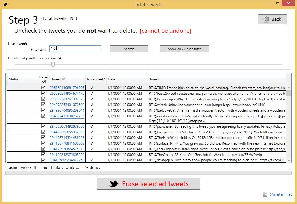 Twitter Archive Eraser 3