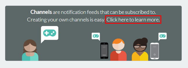 Pushbullet Create Channels