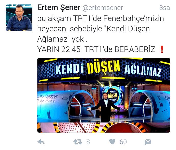 Ertem Şener Tweet
