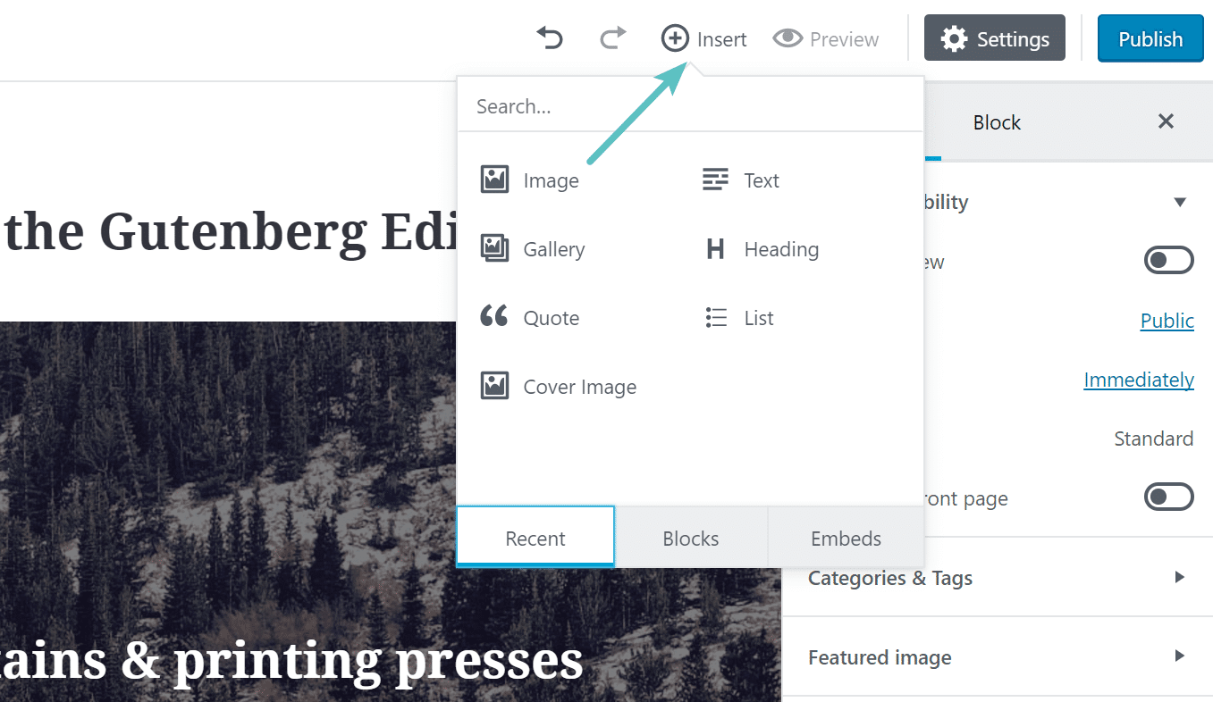 Gutenberg Ekle Blok